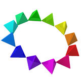 Color wheel, 3d Stock Image