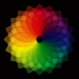 Color wheel background royalty free illustration