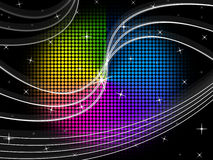 Color Wheel Background Shows Night Sky And Swirls Stock Images