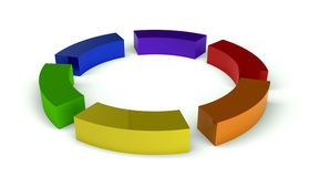 Color wheel boxes Stock Image