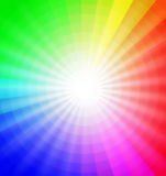 Color wheel with burst of light Royalty Free Stock Photo