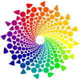 Color Wheel with circles and triangles. Color wheel or color circle  on white background Royalty Free Stock Photography