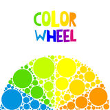 Color wheel or color circle on background Royalty Free Stock Photos