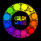 Color wheel or color circle on black background Royalty Free Stock Photo