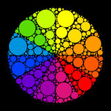 Color wheel or color circle on black background Royalty Free Stock Photography