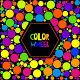 Color wheel or color circle on black background Stock Images