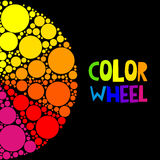 Color wheel or color circle on black background Royalty Free Stock Photos