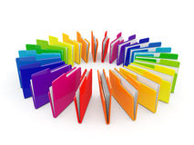 Color wheel concept folders Royalty Free Stock Images