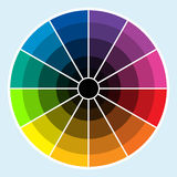 Color Wheel - Dark royalty free illustration