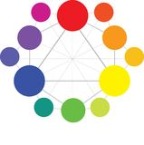 Color Wheel royalty free illustration