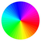 Color wheel with different colors Stock Photos
