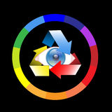 Color wheel-Eye Royalty Free Stock Image