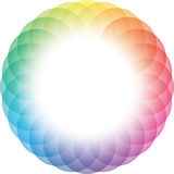 Color Wheel Frame Background. Royalty Free Stock Image