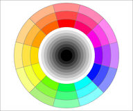 Color wheel illustration. Three shades of hue color wheel vector illustration Royalty Free Stock Images