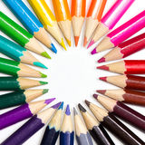 Color wheel made or pencils Stock Images