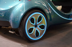 Color wheel. The new concept car wheels Royalty Free Stock Photography