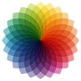 color wheel with overlaying colors Royalty Free Stock Photo
