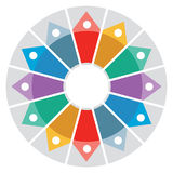Color Wheel - Presentation template. With color circle and arrows Royalty Free Stock Photo