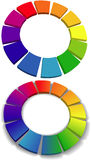 Color wheel set 3D wheels colors choice Stock Photos