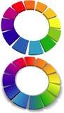 Color wheel set 3D wheels colors choice Stock Photos