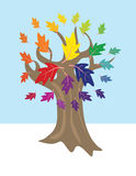 Color wheel tree Royalty Free Stock Photography