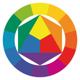 Color wheel with twelve colors Stock Photo