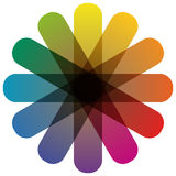 color wheel with twelve colors Royalty Free Stock Images