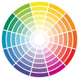 color wheel with twelve colors Royalty Free Stock Image