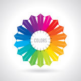 Color wheel. Vector illustration guide. Royalty Free Stock Images