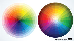 Color wheels. illustration Stock Photos