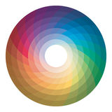 Color wheels on white background. Royalty Free Stock Images