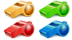 Color whistle vector illustration