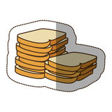 Color white bread icon Stock Images