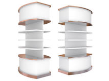 Color white curve shelves Royalty Free Stock Photo