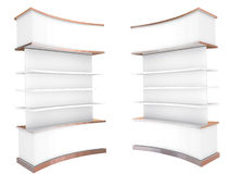 Color white curve shelves Stock Images