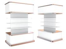 Color white shelves Stock Image