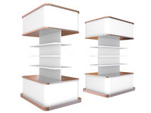 Color white shelves Royalty Free Stock Photos