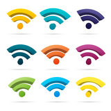 Color Wifi Symbols Royalty Free Stock Photography