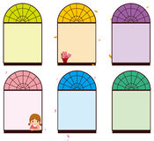 Color window. Illustration of the girl in Color window Stock Photos