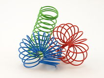 Color wire spiral Stock Photos