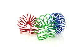 Color wire spiral Stock Photography