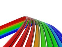 Color wires background Stock Images