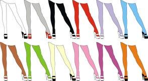 Color woman legs Royalty Free Stock Photos