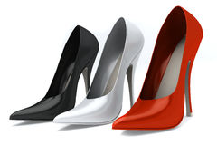 Color woman's shoes Royalty Free Stock Photos