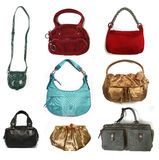 Color women bags set stock photography