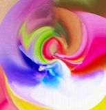 Color is a wonderful and attractive abstraction. Color graphics Stock Images