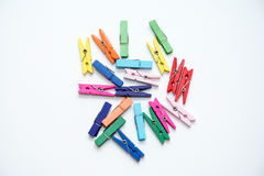 Color wood clip. Stock Images