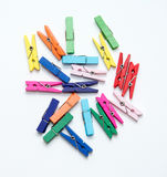 Color wood clip. Royalty Free Stock Images