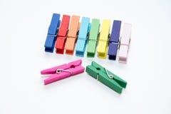 Color wood clip. Stock Photos