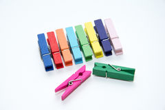 Color wood clip. Stock Photography